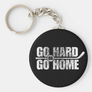 Go Hard or Go Home (Hockey) Key Ring