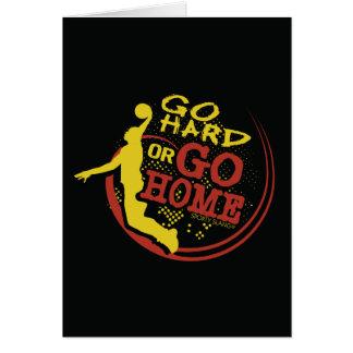 Go Hard or Go Home - Sporty Slang Basketball Card