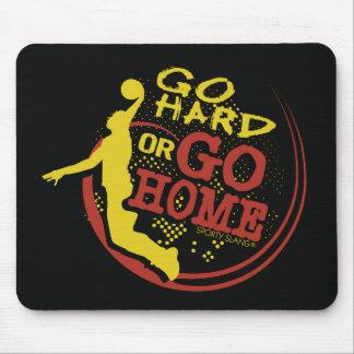 Go Hard or Go Home - Sporty Slang Basketball Mouse Mouse Mat