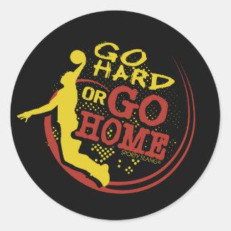 Go Hard or Go Home - Sporty Slang Basketball Stick Stickers