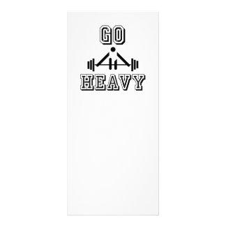 Go heavy customised rack card