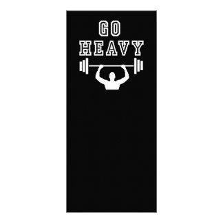 Go heavy full color rack card