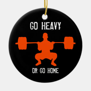 Barbell Christmas Tree Decorations Ornaments Zazzle Co Uk