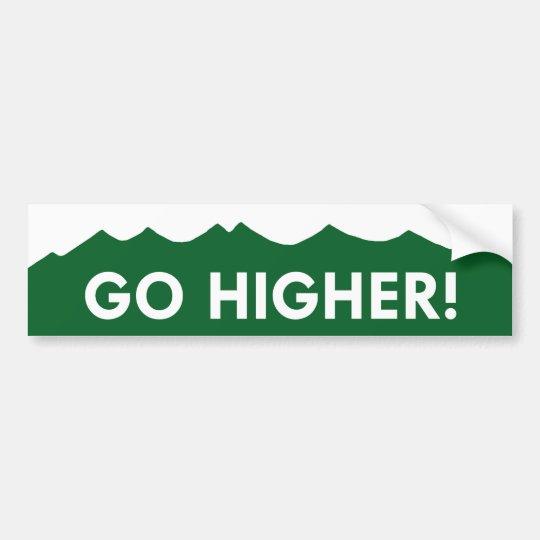 Go Higher! Colorado Mountain Bumper Sticker