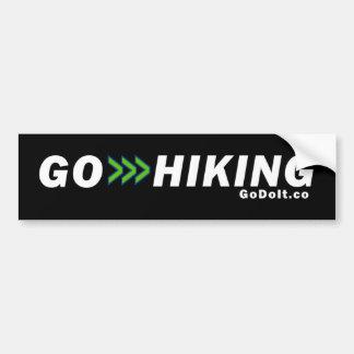 Go Hiking Bumper Sticker (Dark Background)