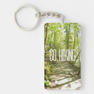 Go Hiking Double-Sided Rectangular Acrylic Key Ring