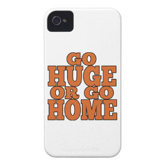 Go Huge or Go Home Orange Letters iPhone 4 Case