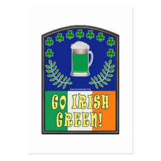 Go Irish Green Business Card Templates