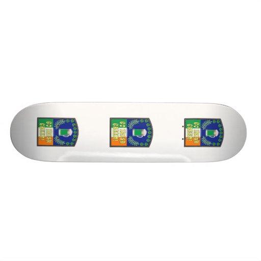 Go Irish Green Skateboard