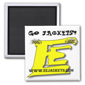 "'GO JACKETS!"" Magnet with eejackets.com website lo"