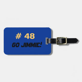 Go Jimmie luggage tag