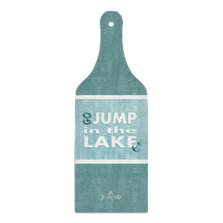Go Jump in the Lake Tempered Glass Cutting Board