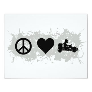Go kart 11 cm x 14 cm invitation card