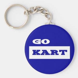 Go Kart Basic Round Button Key Ring