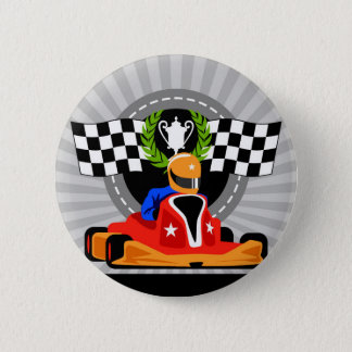 Go Kart birthday favor gift 6 Cm Round Badge