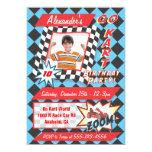 Go Kart Birthday Party Photo Insert Invitations 13 Cm X 18 Cm Invitation Card