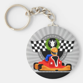 Go Kart button Key ring birthday favor gift Basic Round Button Key Ring