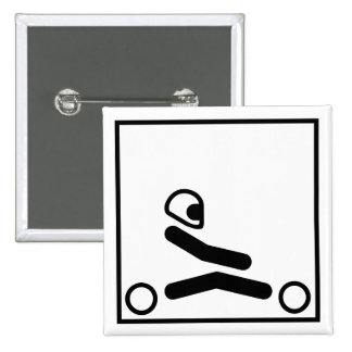 Go Kart Figure 15 Cm Square Badge