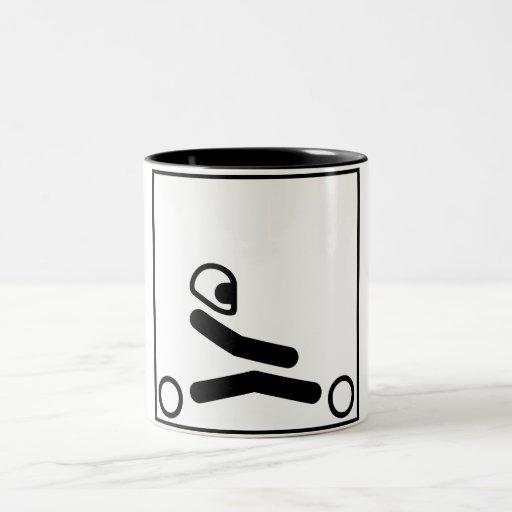 Go Kart Figure Coffee Mugs
