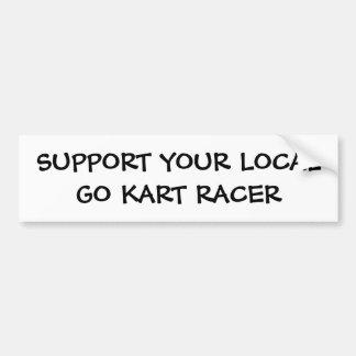 Go Kart Racer Bumper Sticker