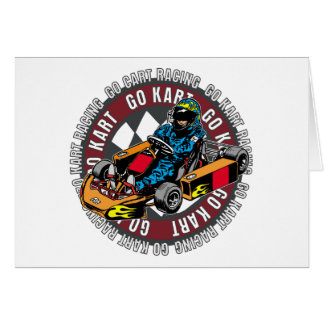 Go Kart Racing Card
