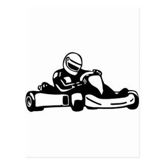 Go Kart Racing Postcard