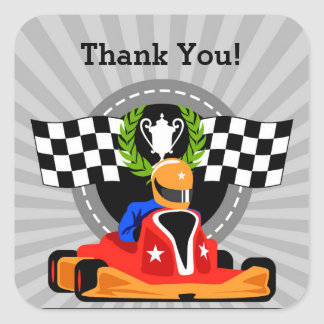 Go Kart Thank you Sticker