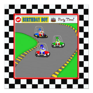 Go Kart Track Race Child's Birthday Invites