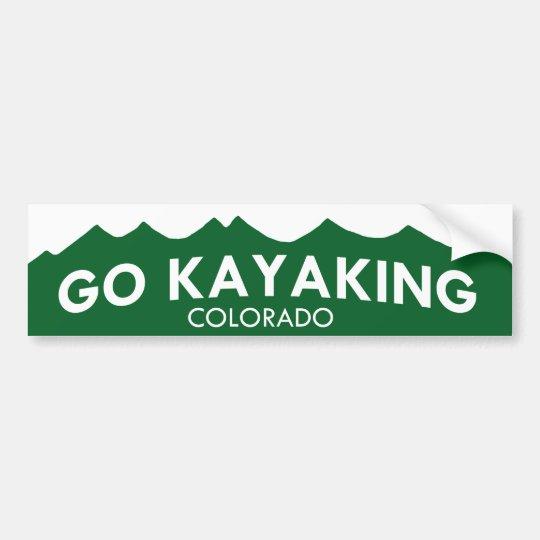 Go Kayaking Colorado Bumper Sticker