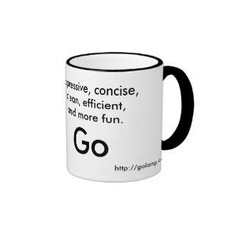 Go language magnet ringer mug