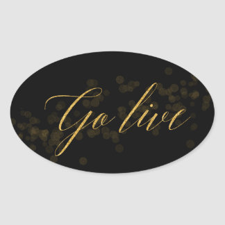 Go Live Oval Sticker