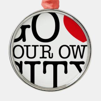 Go Love Own City! Christmas Ornament