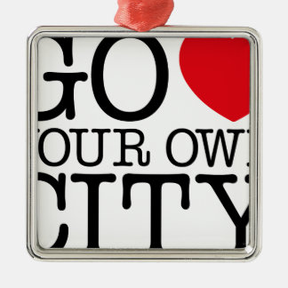 Go Love Own City! Christmas Ornament