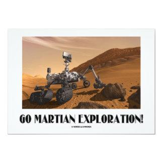 Go Martian Exploration! (Mars Rover Curiosity) 5x7 Paper Invitation Card
