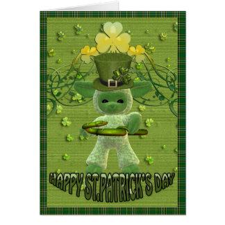 Go mbeannaí Dia duit, may god bless you st. pats Greeting Card
