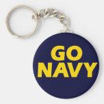 Go Navy - keychain