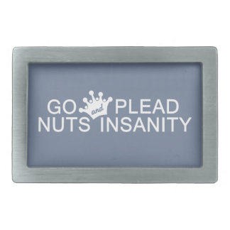 GO NUTS custom color belt buckle