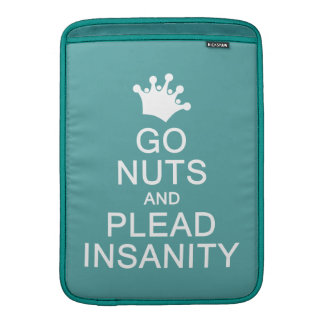 GO NUTS custom color MacBook sleeve