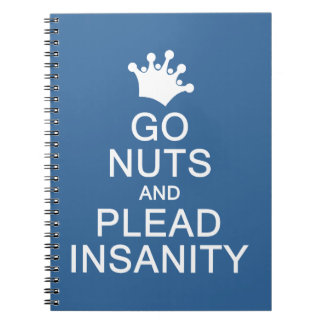GO NUTS custom color notebook