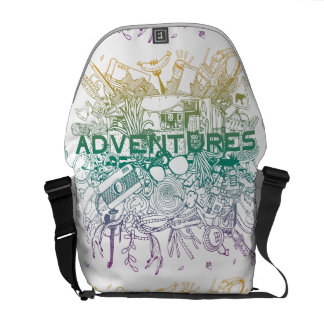Go On for Adventures! That's time! Courier Bag