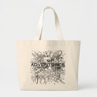 Go On for Adventures! That's time! Large Tote Bag