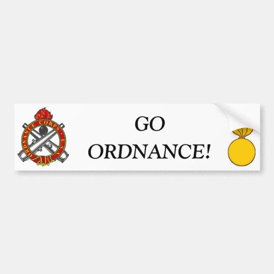 Go Ordnance Bumper Sticker