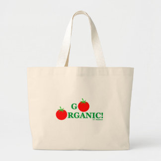 Go Organic Cooking and Gardening Grocery Jumbo Tote Bag