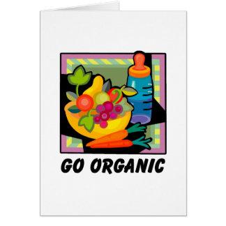 Go Organic Greeting Card