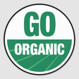 Go Organic Round Stickers