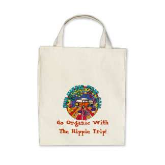 Go Organic With The Hippie Trip! Tote Bags