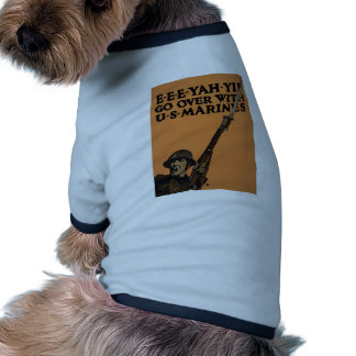 Go Over With US Marines Doggie T Shirt