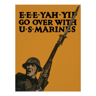 Go Over With US Marines -- WWI Print
