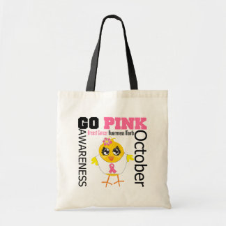 Go Pink For Breast Cancer Awareness Month Budget Tote Bag