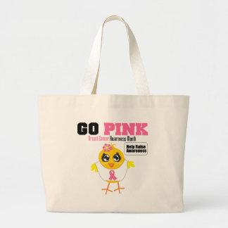 Go Pink For Breast Cancer Awareness Month v2 Jumbo Tote Bag